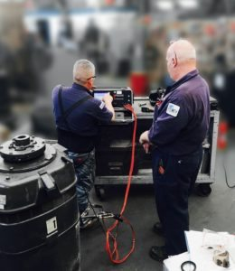 iTIG II in use at service center