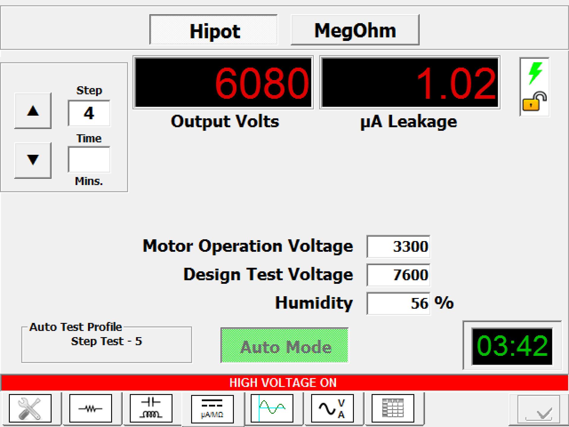 Dc Hipot Step Voltage Test Electrom Instruments