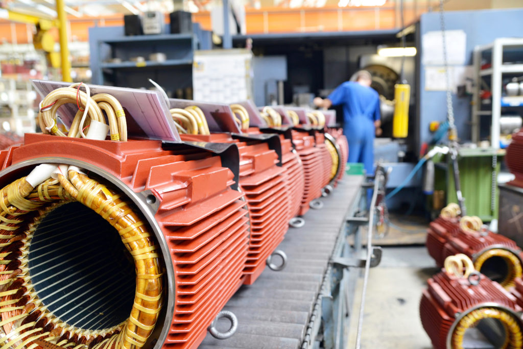 coil and motor manufacturing; electric motor production
